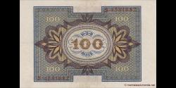 Allemagne - p069a - 100Mark - 01.11.1920 - Reichsbank