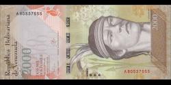Venezuela - p96a - 2000 Bolívares - 18.08.2016 - Banco Central de Venezuela