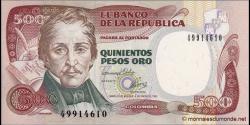Colombie - p431Ab -500 Pesos oro - 1983 - Banco de la República