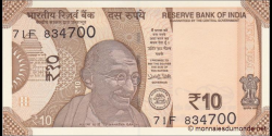 Inde - p108a - 10 Roupies - 2018 - Reserve Bank of India