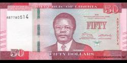 Libéria - p34a - 50 dollars - 2016