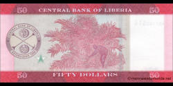 Libéria - p34a - 50 dollars - 2016 - Central Bank of Liberia