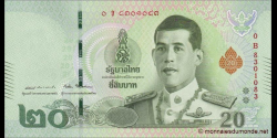 Thaïlande - p135 - 20Baht - 2018
