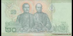 Thaïlande - p135 - 20Baht - 2018 - Bank of Thailand