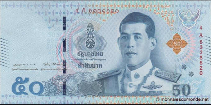 Thaïlande - p136 - 50 Baht - 2018 - Bank of Thailand