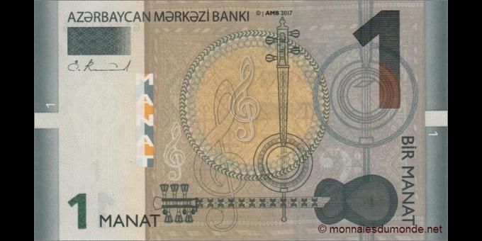 Azerbaïdjan - p31b- 1 Manat - 2017 - Azərbaycan Mәrkәzi Bankı
