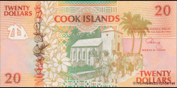 Cook - Islands - p09 - 20Dollars - ND (1992) - Ministry of Finance