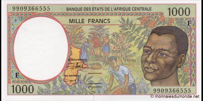 Rep - Centrafricaine - p302Ff - 1000 Francs - 1999 - Banque des États de l'Afrique Centrale