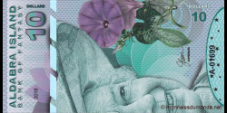 Iles Aldabra, 10 dollars, 2018
