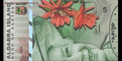 Ile Aldabra, 5 dollars, 2018