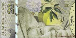 Iles Aldabra, 20 dollars, 2018