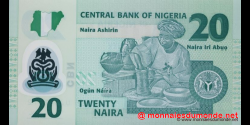 Nigeria - p34g - 20 Naira - 2011 - Central Bank of Nigeria