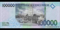 São Tomé-et-Príncipe - p69c - 100.000 Dobras - 31.12.2013- Banco Central de S. Tomé e Príncipe