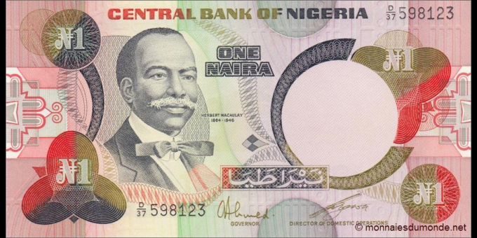 Nigeria - p23a - 1 Naira - 1984