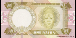 Nigeria - p23a - 1 Naira - 1984 - Central Bank of Nigeria