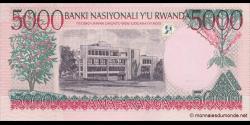Rwanda - p28a - 5 000 Francs - 01.12.1998