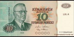 Finlande - p112a20 - 10Markka / Mark - 1980