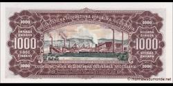 Yougoslavie - p075 - 1 000Dinara - 01.05.1963 -Narodna Banka Jugoslavije