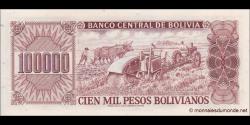 Bolivie - p171 - 100.000 Pesos Bolivianos - D. 05.06.1984 - Banco Central de Bolivia