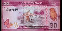 Sri - Lanka - p123b - 20 Roupies - 2015 - Central Bank of Sri Lanka