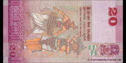 Sri - Lanka - p123b - 20 Roupies - 04.02.2015 - Central Bank of Sri Lanka