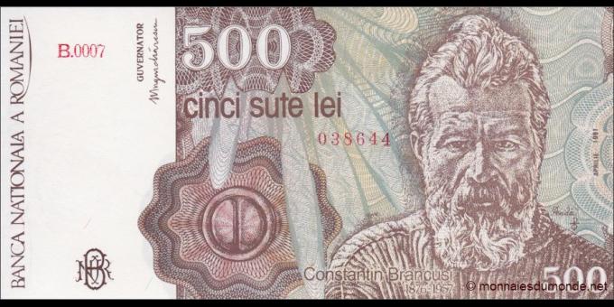 Roumanie - p098b - 500 Lei - 1991 - Banca Naţională a României