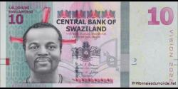 Swaziland - p41 - 10 Emalangeni - 06.09.2015