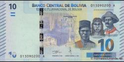 Bolivie - p248a- 10 Bolivianos - 2018