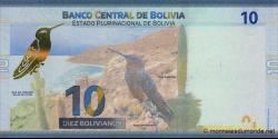 Bolivie - p248a - 10 Bolivianos - 2018