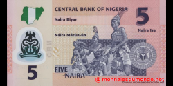 Nigeria - p38a2 - 5 Naira - 2009 - Central Bank of Nigeria