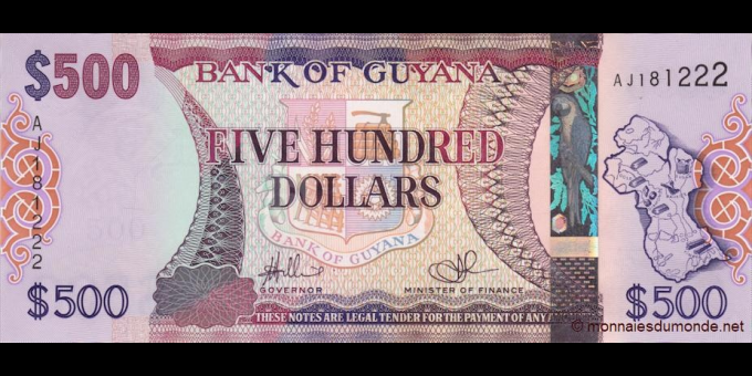 Guyana - p37 - 500 Dollars - 2011 - Bank of Guyana