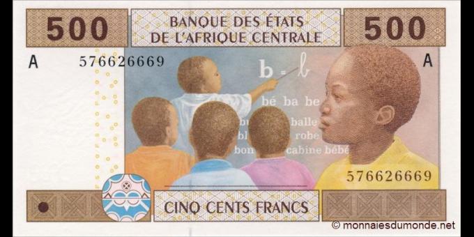 Gabon - p406Ac - 500 francs -2002 - Banque des États de l'Afrique Centrale