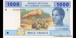 Gabon - p407Ac - 1000 francs -2002 - Banque des États de l'Afrique Centrale