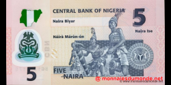 Nigeria - p38b - 5 Naira - 2011 - Central Bank of Nigeria