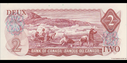 Canada - p086a - 2 Dollars - 1974 - Bank of Canada / Banque du Canada