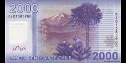 Chili - p162c - 2000 Pesos - 2013 - Banco Central de Chile