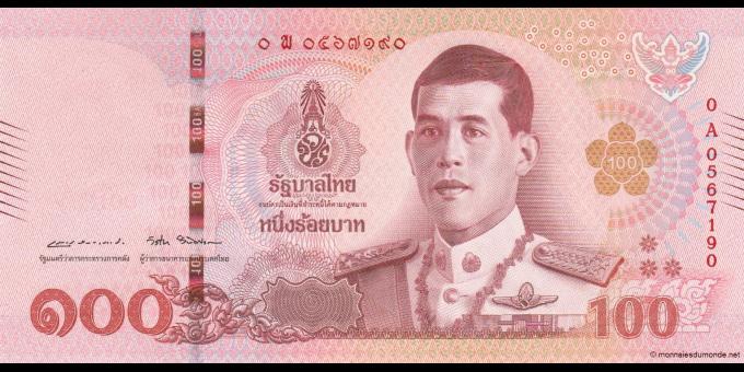 Thaïlande - p137 - 100Baht - 2018 - Bank of Thailand