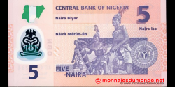 Nigeria - p38c - 5 Naira - 2013 - Central Bank of Nigeria