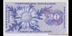 Suisse - p46v2 - 20 Franken / Francs / Franchi - 7.02.1974 - Schweizerische Nationalbank / Banque Nationale Suisse