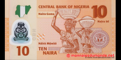 Nigeria - p39a2 - 10 Naira - 2009 - Central Bank of Nigeria