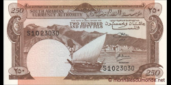 Yémen du Sud - p01b - 250 fils- ND (1965) - South Arabian Currency Authority