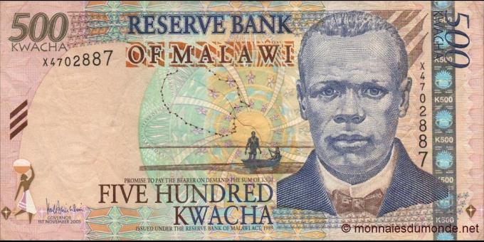 Malawi - p56a - 500 Kwacha - 01.11.2005 - Reserve Bank of Malawi