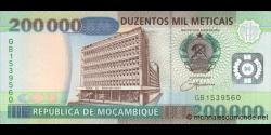 Mozambique - p141 - 200.000 Meticais - 16.06.2003 - República de Moçambique