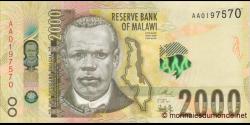 Malawi - p69a - 2000 Kwacha - 01.06.2016 - Reserve Bank of Malawi