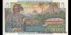 St-Pierre-et-Miquleon - p22 - 5 francs - ND (1960) - Caisse Centrale de la France d'Outre-Mer