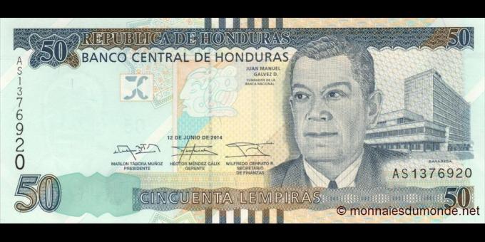 Honduras - p101b - 50 Lempiras - 12.06.2014 - Banco Central de Honduras
