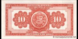 Pérou - p084d - 10 Soles de oro - 25.05.1967 - Banco Central de Reserva del Perú