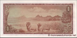 afrique du sud - p109b - 1 rand - ND (1966 - 1972) - South African Reserve Bank / Suid - Afrikaanse Reserwebank