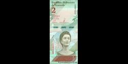 Venezuela - p101a - 2 Bolívares soberano - 15.01.2018 - Banco Central de Venezuela