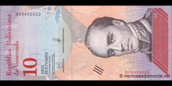 Venezuela - p103a - 10 Bolívares soberano - 15.01.2018 - Banco Central de Venezuela